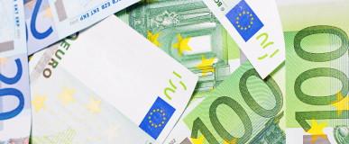 heap of euro close up